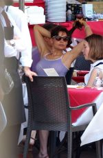 LAETITIA CASTA in Denim Shorts Out in Naples 07/05/2018