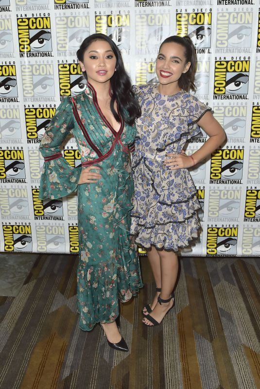 LANA CONDOR and MARIA GABRIELA DE FARIA at Deadly ClassPress Room at Comic-con in San Diego 07/22/2018