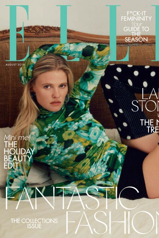 LARA STONE in Elle Magazine, UK August 2018