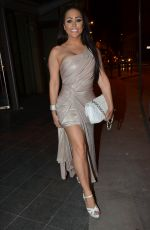 LAURA ALICIA SUMMERS Leaves Umbrella Ball in Manchester 07/07/2018