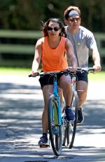 LEA MICHELE and Zandy Reich Out for a Bike Ride in New York 07/09/2018