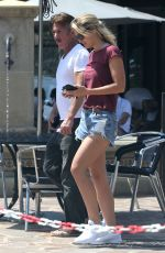 LEILA GEORGE in Denim Shorts Out in Malibu 07/07/2018