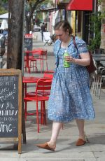 LENA DUNHAM Leaves a Restaurant in Los Angeles  07/11/2018