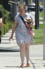 LENA DUNHAM Out with Boyfriend in Los Angeles 07/17/2018