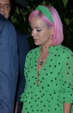LILY ALLEN Out for Dinner at Scott