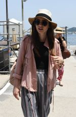 LILY COLLINS Arrives at Hotel Regina Isabella in Ischia Porto 07/14/2018