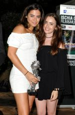 LILY COLLINS at a Gala Dinner Ischia Global Film and Music Festival 07/19/2018
