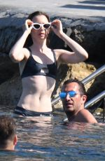 LILY COLLINS in Bikini at a Beach in Ischia 07/19/2018