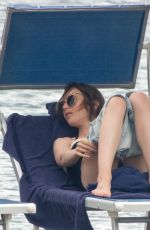 LILY COLLINS in Swimsuit at Hotel Isabella Hotel in Ischia 07/16/2018