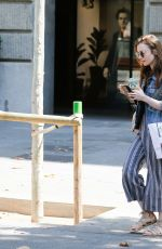 LILY COLLINS Out and About in Barcelona 07/12/2018