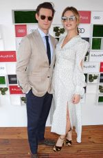 LILY JAMES at Audi Polo Challenge at Coworth Park 07/01/2018