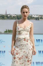 LILY JAMES at Mamma Mia! Here We Go Again Photocall in Hamburg 07/12/2018