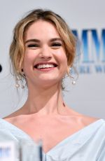 LILY JAMES at Mamma Mia! Here We Go Again Photocall in Stockholm 07/11/2018