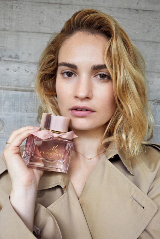 LILY JAMES for My Burberry 2018 Campaign
