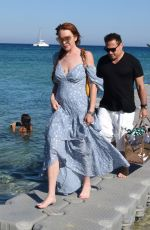 LINDSAY LOHAN Out and About in Mykonos 07/02/2018