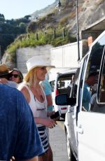 LINDSEY VONN on Vacation in Capri 07/01/2018