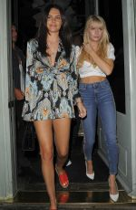 LOTTIE MOSS and EMILY BLACKWELL at Sexy Fish in London 07/19/2018