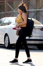 LUCY HALE at Muay Thai Class in Hollywood 07/17/2018