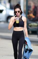 LUCY HALE Leaves a Gym in Los Angeles 07/09/2018