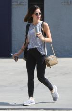LUCY HALE Leaves a Gym in Studio City 07/18/2018