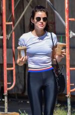 LUCY HALE Out for a Coffee in Studio City 07/21/2018
