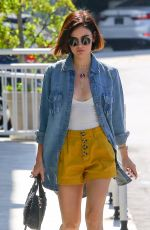 LUCY HALE Out for Breakfast to Go in Studio City 07/27/2018
