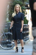 LUCY LIU on the Set of Elementary in New York 07/13/2018