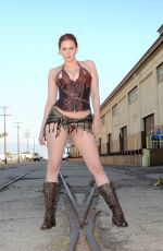 MAITLAND WARD on the Set of a Photoshoot in Los Angeles 07/27/2018