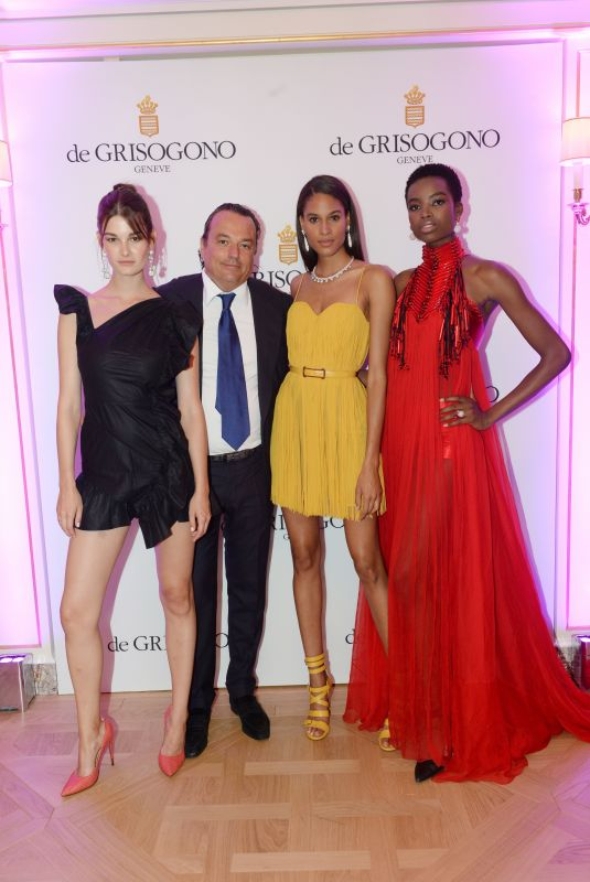 MARIA BORGES, CINDY BRUNA and OPHELIE GUILLERMAND at De Grisogono Dinner in Paris 07/03/2018