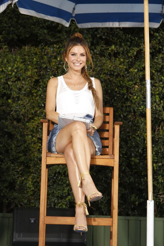 MARIA MENOUNOS at Belly Flop Competition in Los Angeles 07/10/2018