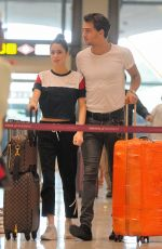 MARTINA STOESSEL and Pepe Barros at Airport in Madrid 07/04/2018