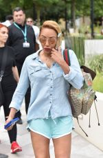 MELANIE BROWN Leaves ITV Studios in London 07/24/2018