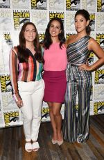 MELISSA FUMERO, STEPHANIE BEATRIZ and CHELSEA PERETTI at Brooklyn Nine-nine Panel at Comic-con in San Diego 07/19/2018