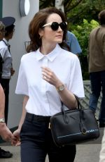 MICHELLE DOCKERY Out and About in London 07/10/2018