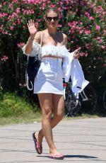 MICHELLE HUNZIKER in a Skirt Out in Milano Marittima 07/07/2018