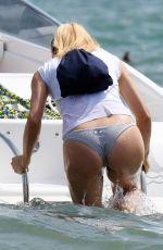MICHELLE HUNZIKER in Bikini Bottom at a Beach in Milano Marittima 07/08/2018