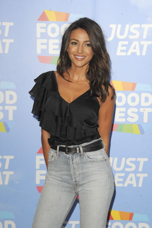 MICHELLE KEEGAN at Just Eat Food Celebration: Fantasy Fusions VIP Launch in London 07/19/2018