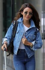 MICHELLE KEEGAN in Double Denim at BBC Studios in Salford 07/18/2018