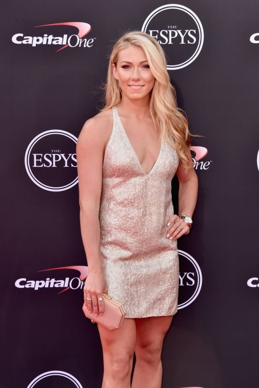 MIKAELA SHIFFRIN at 2018 Espy Awards in Los Angeles 07/18/2018