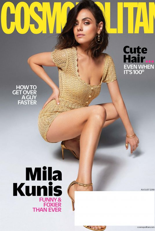 MILA KUNIS in Cosmopolitan Magazine, August 2018 Issue