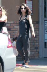 MILA KUNIS in Overalls Out Shopping in Los Angeles 07/05/2018