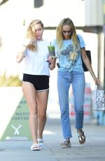 MILEY and TISH CYRUS Out in Los Angeles 07/27/2018