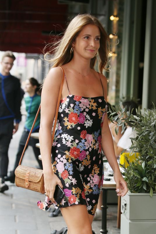 MILLIE MACKINTOSH Out for Dinner in London 07/09/2018