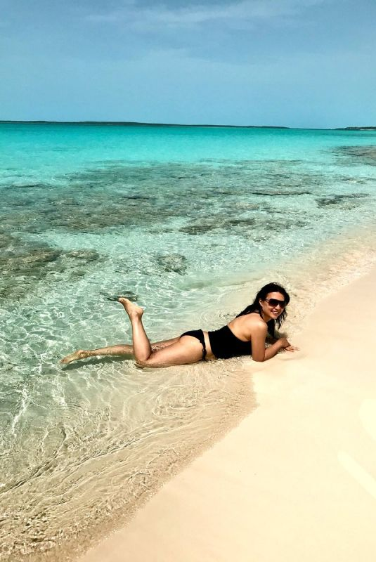 MING-NA WEN in Bikini Bottoms at a Beach in Bahamas 06/30/2018 Twitter Picture