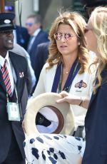 MIRKA FEDERER Arrives at Wimbledon Tennis Championships in London 07/11/2018