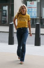 MOLLIE KING Arrives at BBC Radio in London 07/20/2018