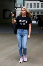 MOLLIE KING in Jeans Leaves BBC Radio in London 07/10/2018