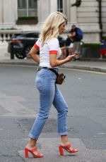 MOLLIE KING in Jeans Out in London 07/15/2018
