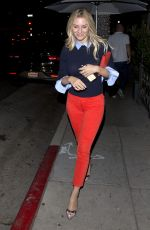 MORGAN STEWART Out for Dinner in Beverly Hills 07/22/2018