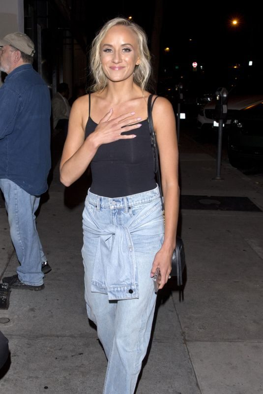 NASTIA LIUKIN in Denim Out for Dinner in West Hollywood 07/21/2018